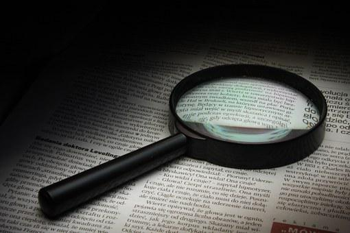 Magnifier, Newspaper, History, Glass