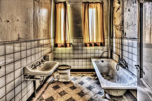 Bath, Bathroom, Hdr, Monastery, Expired