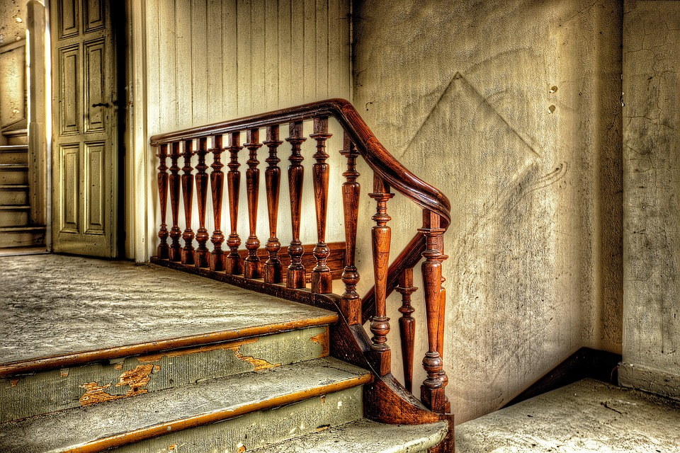 Trap, Hdr, Klooster, Vervallen, Oud, Architectuur