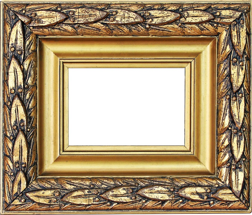 Picture Frame Gold Stucco · Free photo on Pixabay