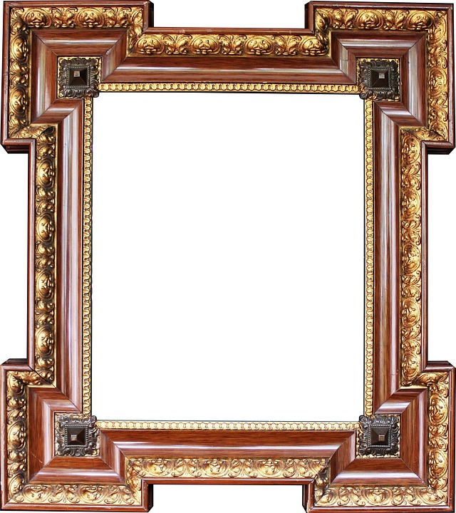 Stucco On Frame : Free photo picture frame gold stucco image