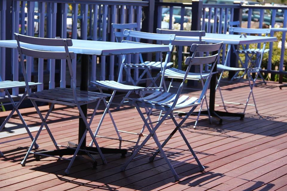 무료 사진: 정원 테이블, 다 이닝 테이블, 좌석, 카페, 푸른, 의자 ...