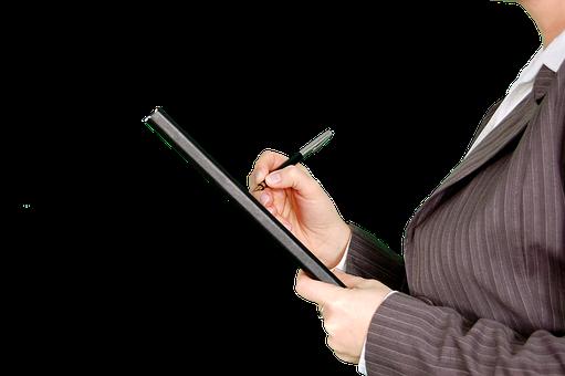 El Control Escritura Trabajo Oficial Forma