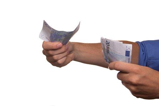 Euro, Argent, Payer, Espèces, Emprunt