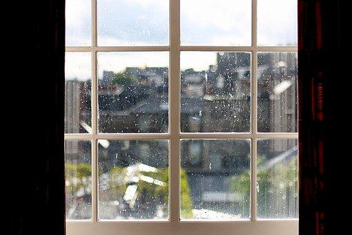 雨滴, ウィンドウ, ドロップ, 滴, 雨, 水, ウェット, 雨の日, 露