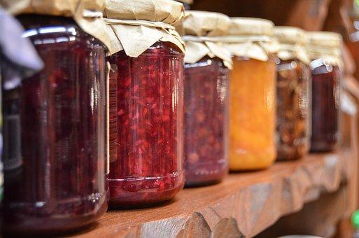 ジャム, 瓶, フルーツ, 自然, 食品, 有機, 食べること, 砂糖, ゼリー