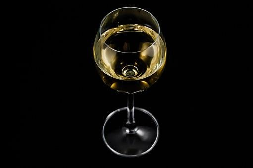 A Glass Of, Wine, Alcohol, White Wine