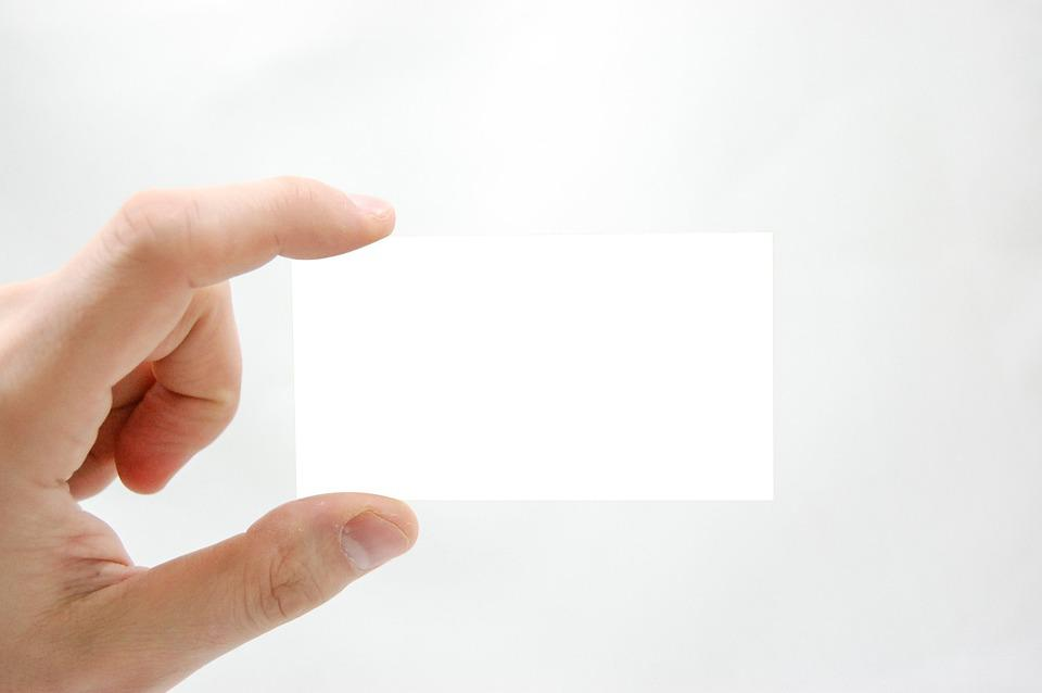 Business Card The Hand · Free photo on Pixabay