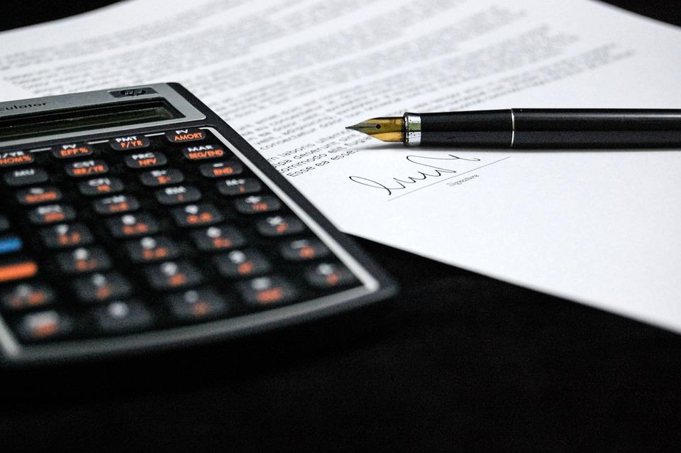 ドキュメント, 合意, 看板, ビジネス, 紙, ペン, 電卓