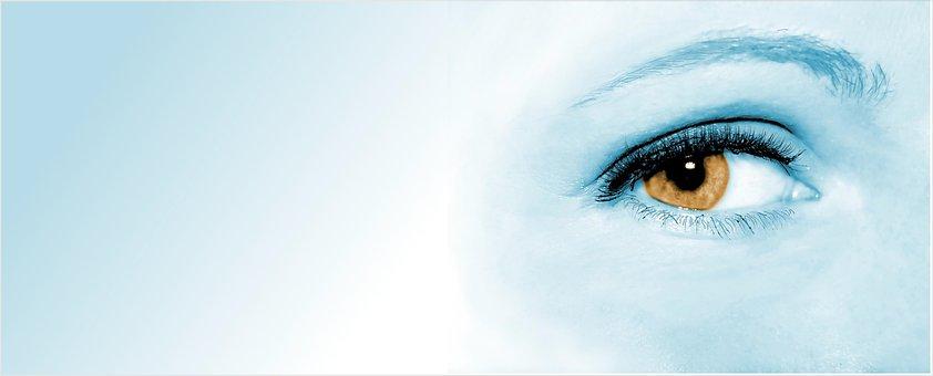 目, 女性, 顔, 瞳, バック グラウンド, バナー, 焦点, 観測, 見る