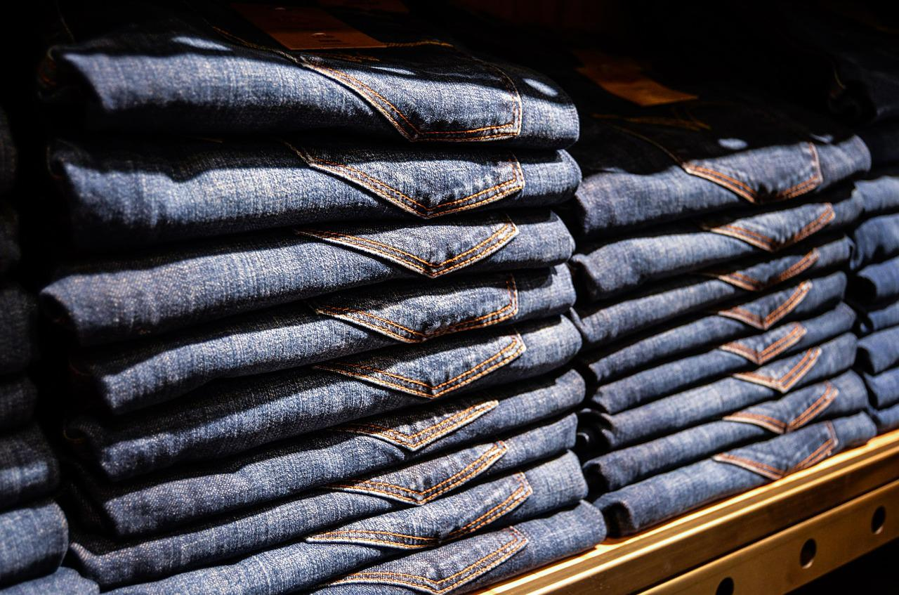 stacks of jeans