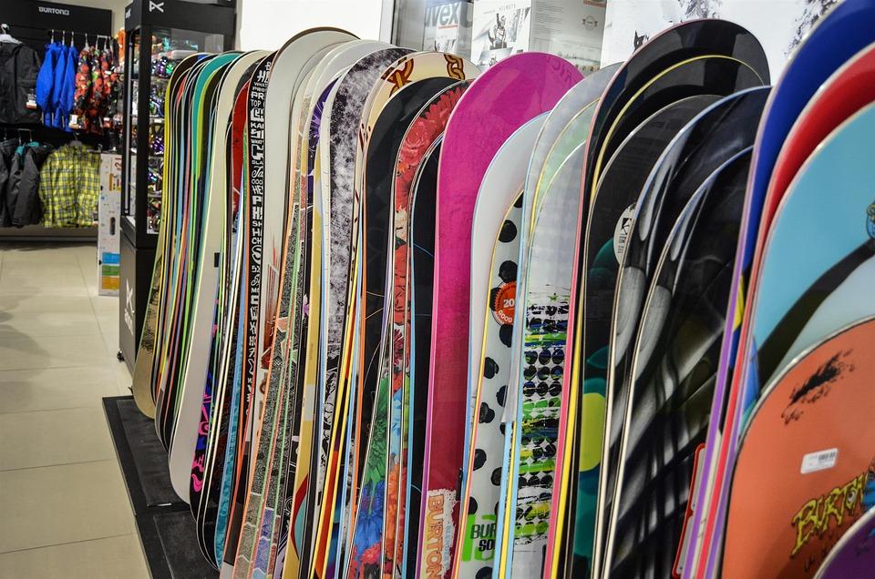 スノーボード, ボード, 冬, スキー, 展覧会, ショップ, ショッピング, 買う, ビジネス, 衣類, 服