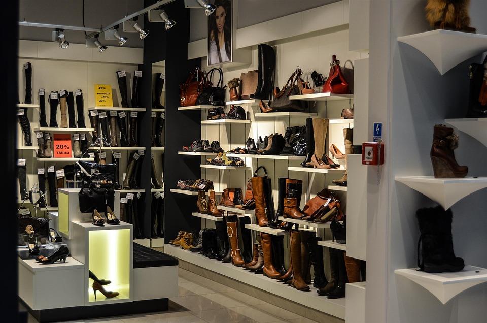 Но, Обувь, Выставка, Магазин, Покупка Товаров, Полки