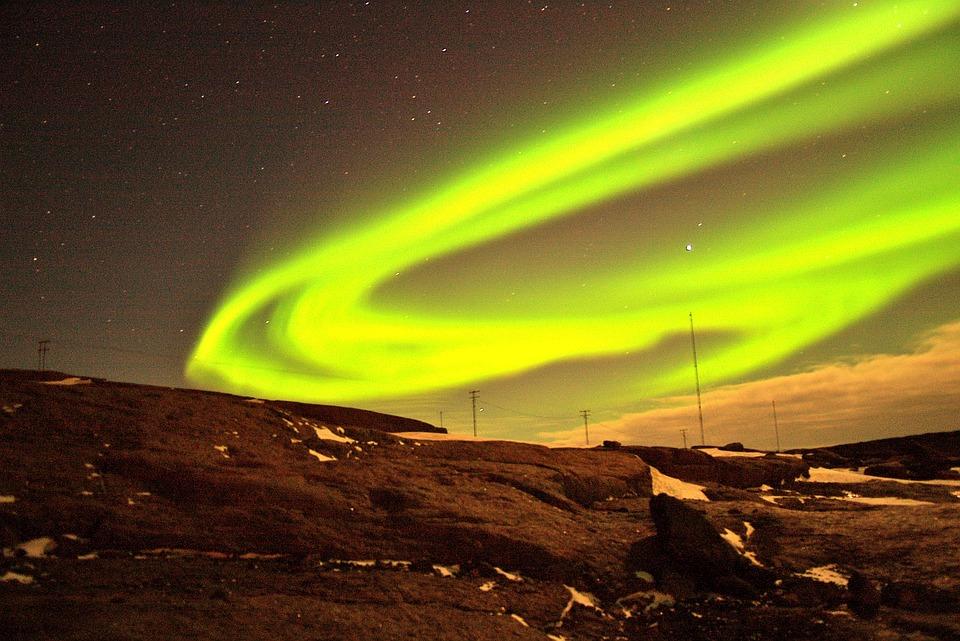 Aurora, Lights, Borealis, Northern, Night, Sky, Iceland