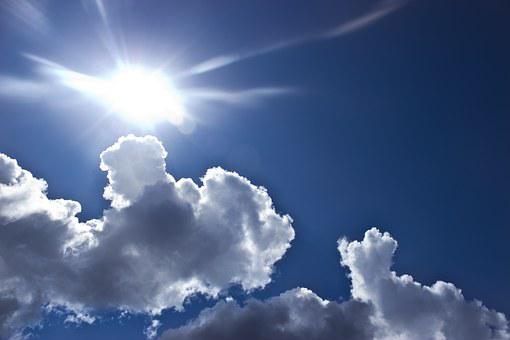 Clouds, Sun, Sky, Blue, Nature, Summer