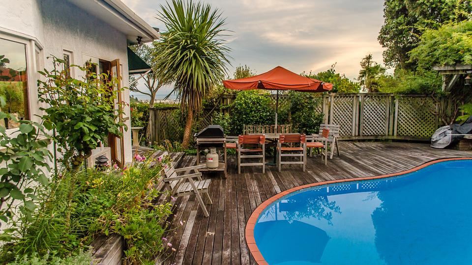 House, Pool, Nelson, New Zealand, Summer