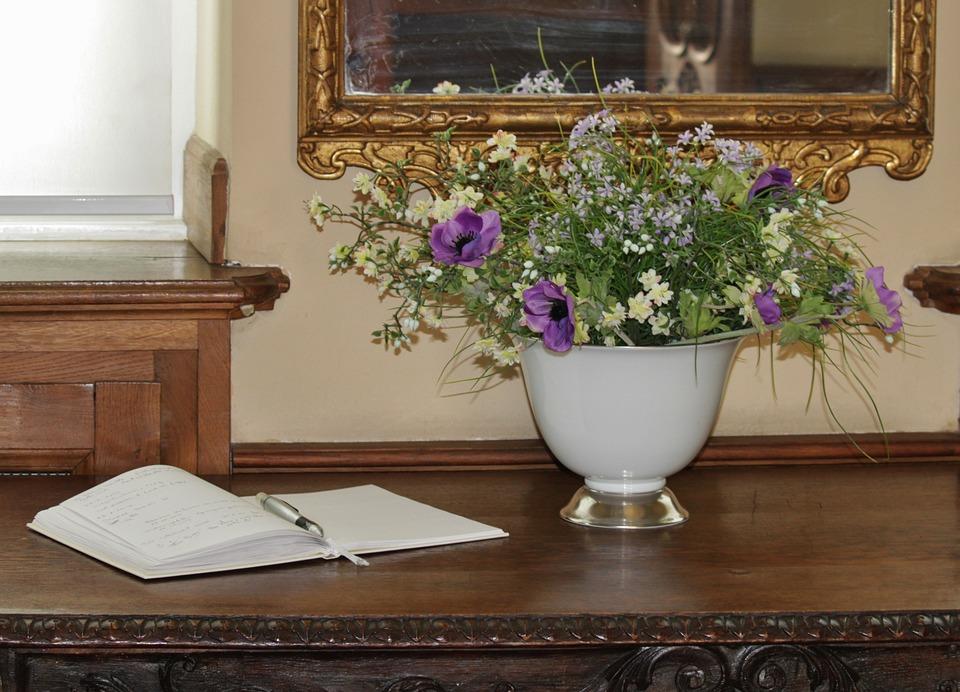 Ziyaretçi Defteri, Konuk Defteri Giriş, Çiçek Buketi