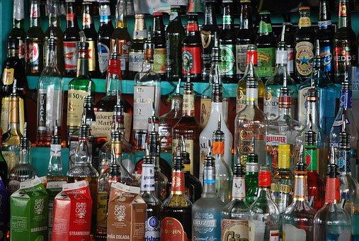 酒, アルコール, ドリンク, ウイスキー, ラム酒, ボトル, ウォッカ