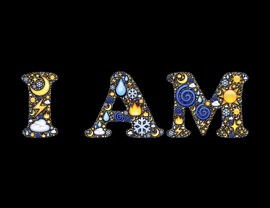 i am words font free image on pixabay
