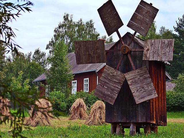 free photo windmill harvest corn house free image on. Black Bedroom Furniture Sets. Home Design Ideas