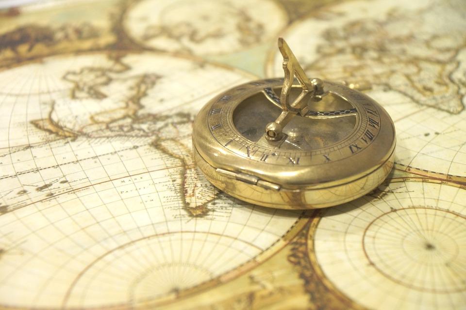 Mappa Del Mondo, Bussola, Antiquariato, Navigazione