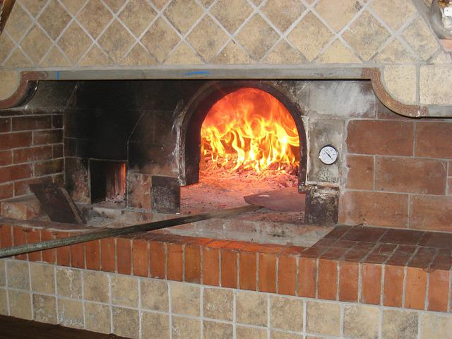 Free photo pizza oven cooking restaurant free image - Chimenea electrica mueble ...