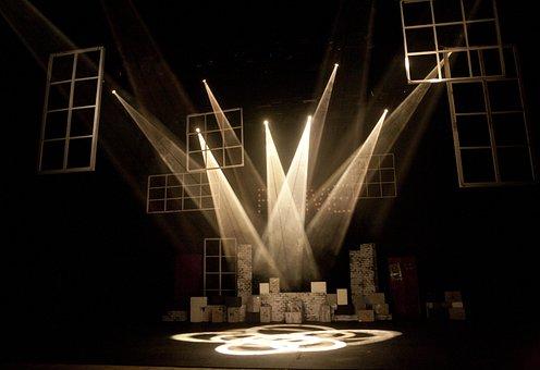 演劇舞台, 光, 照明