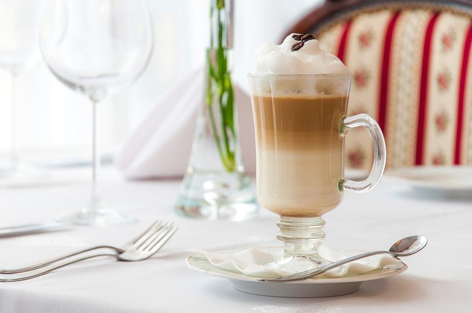 Kawa, Latte, Macchiato, Restauracja, Kawowa
