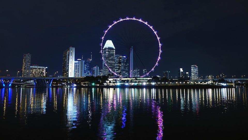 Kostenloses Foto: Singapur, Riesenrad, Fluss, Skyline ...