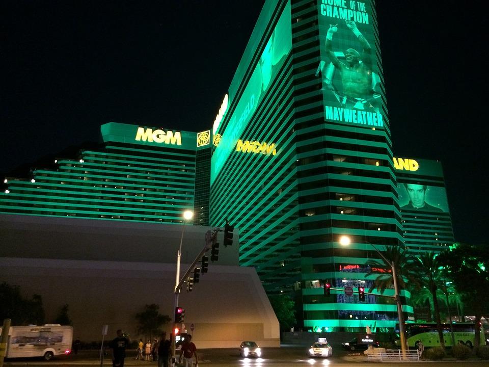 Mgm Grand, Las Vegas Strip, Nevada, Night, Casino