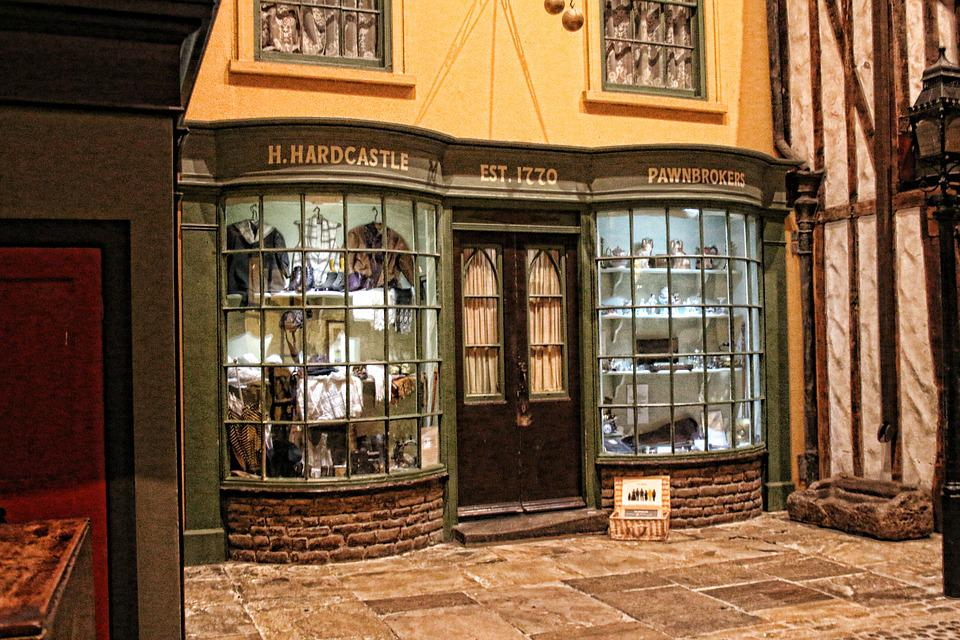Museum Shop Vintage Old Victorian York Cobbles