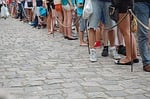 people, foot, waiting