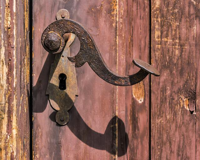 Free Photo Handle Rusty Old Lock Rust Free Image On