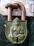 lock, padlock, metal