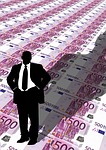 businessman, man, euro