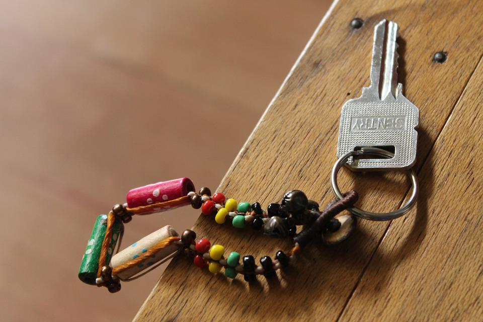 Nøkkelring, Nøkkel, Kjeden, Perle, Perler, Bord, Wood