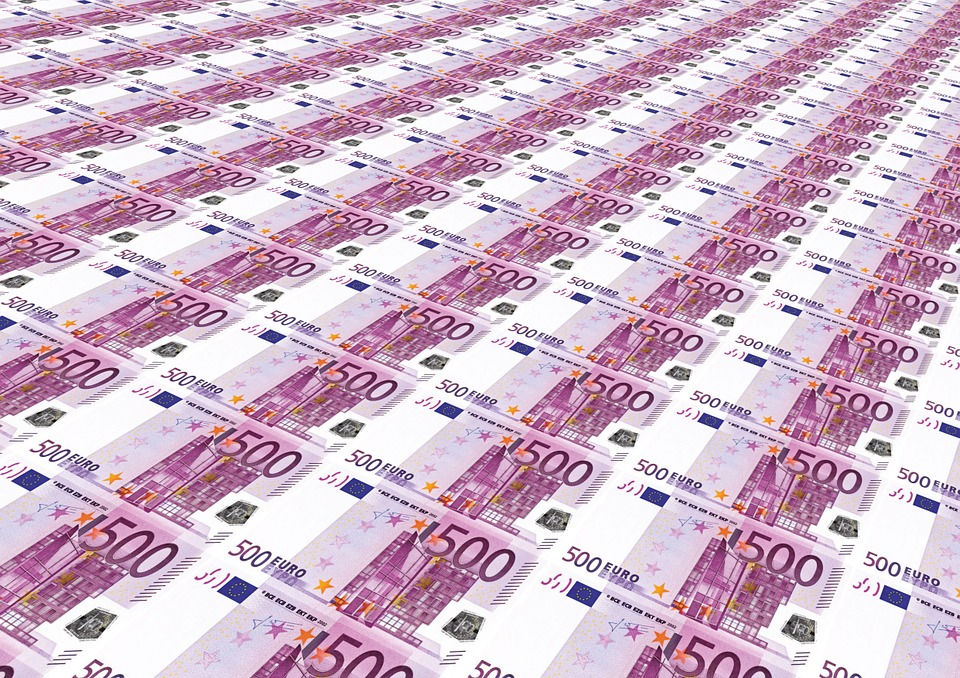 L'Argent Surabondance, 500 Euros, Euro, Pile, Argent