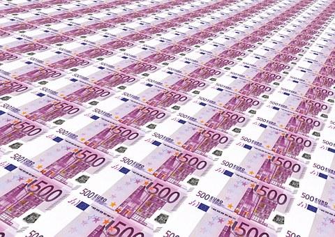 Money Glut, 500 Euro, Euro, Stack, Money