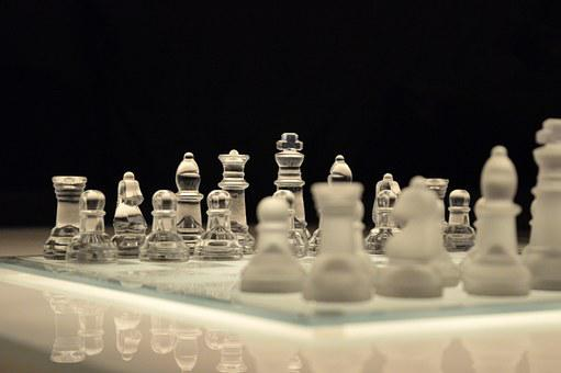 Chess, Game, Chessboard, Glass, Board
