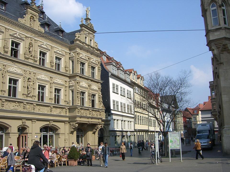 Architektur Erfurt erfurt innenstadt gebäude kostenloses foto auf pixabay