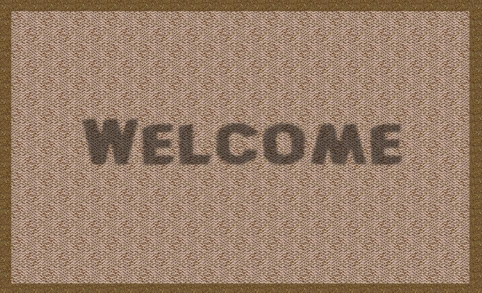 Benvenuti, Jas, Tappeto, Zerbino, Saluto, Home, Portone
