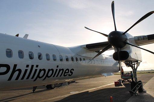 飛行機, プロペラ, フィリピン, 交通, 空気, 空, フライト, 航空機