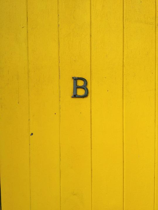 door letter b yellow wood sign retro old & Door Letter B · Free photo on Pixabay
