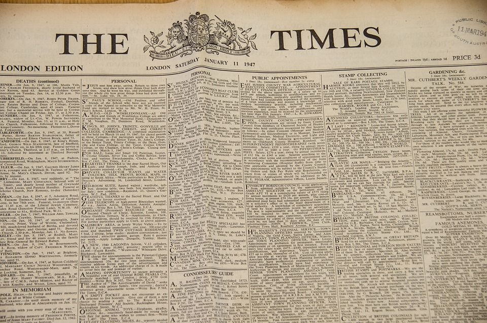 The Times Newspaper Historic Free Photo On Pixabay
