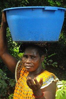 Mujer, África, Africa, Guinea, Bissau