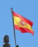 flag, national, spain