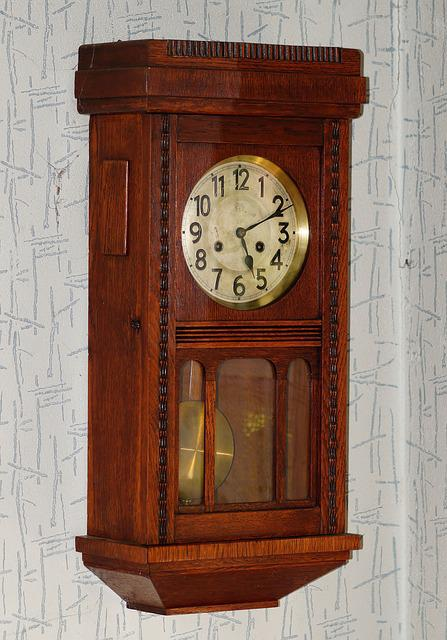 free photo wall clock antique wood free image on