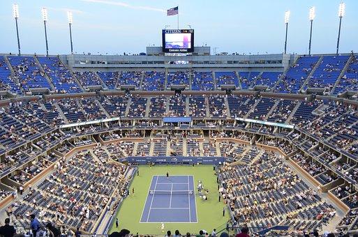 Stadium, Tennis Court, Tennis, Audience