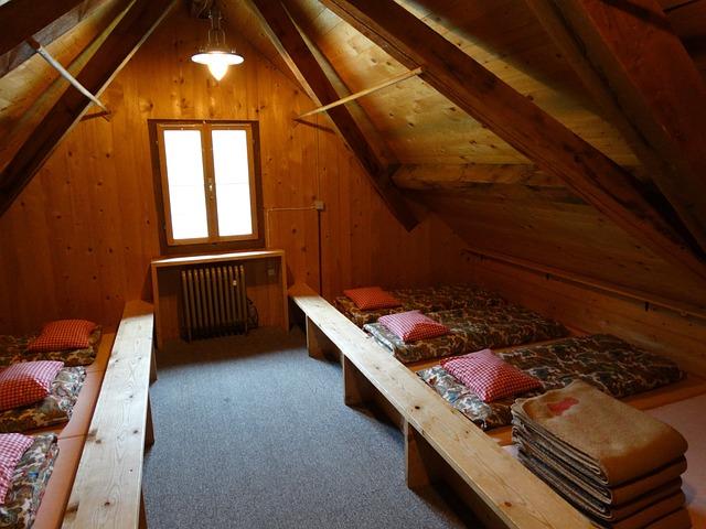 Matratzenlager hütte  Kostenloses Foto: Matratzenlager, Berghütte - Kostenloses Bild auf ...