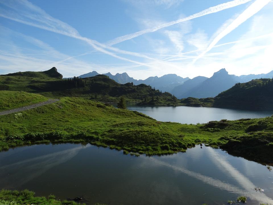 山の世界, 山の湖, 山の空, 高山, パノラマ, 自然, ビュー, 遠景